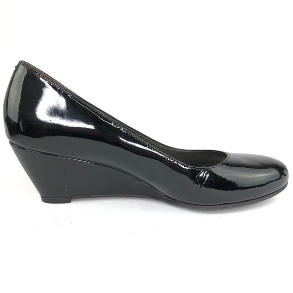 Cole Haan Black Patent Leather Wedge